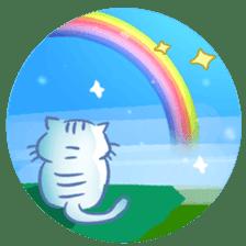 white tabby cat sticker #889738