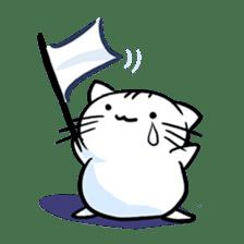 white tabby cat sticker #889739