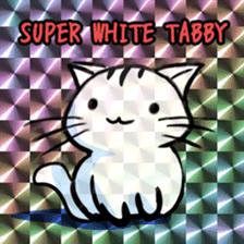 white tabby cat sticker #889742