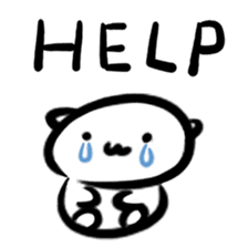 white tabby cat sticker #889744