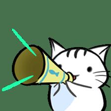 white tabby cat sticker #889749