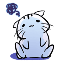 white tabby cat sticker #889750
