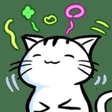 white tabby cat sticker #889751