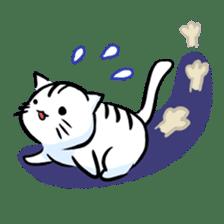 white tabby cat sticker #889752