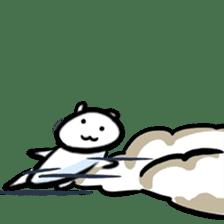 white tabby cat sticker #889753
