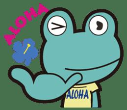 ALOHA FROG sticker #890199