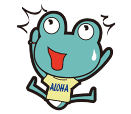 ALOHA FROG sticker #890202
