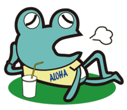 ALOHA FROG sticker #890211