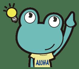 ALOHA FROG sticker #890212