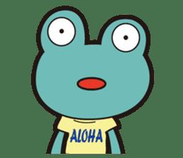 ALOHA FROG sticker #890214