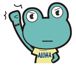 ALOHA FROG sticker #890219