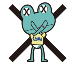 ALOHA FROG sticker #890223