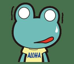 ALOHA FROG sticker #890228