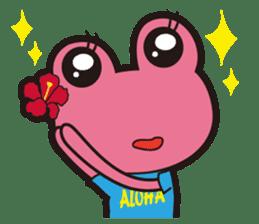 ALOHA FROG sticker #890234