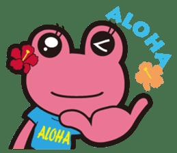 ALOHA FROG sticker #890237