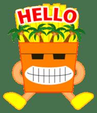 happy potato diary stamp sticker #890667