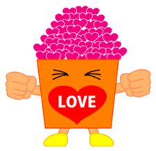 happy potato diary stamp sticker #890675