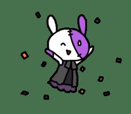 Goth rabbit sticker #893121