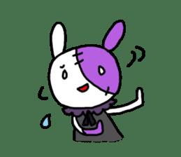 Goth rabbit sticker #893123