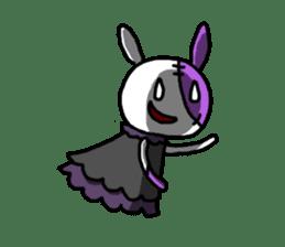 Goth rabbit sticker #893125