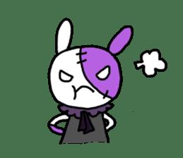 Goth rabbit sticker #893131