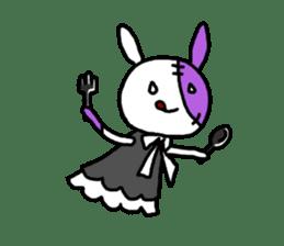 Goth rabbit sticker #893135