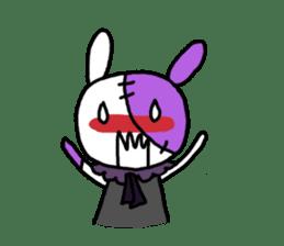 Goth rabbit sticker #893141