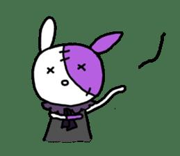 Goth rabbit sticker #893142