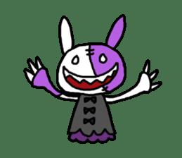 Goth rabbit sticker #893143
