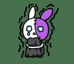 Goth rabbit sticker #893150