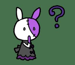 Goth rabbit sticker #893153