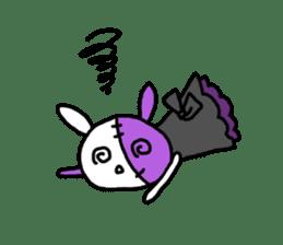Goth rabbit sticker #893155