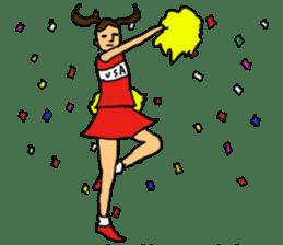 Cheerleader YUKIKO sticker #894785