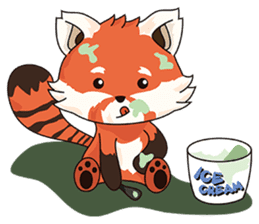 Little Tipsy the Red Panda sticker #897559