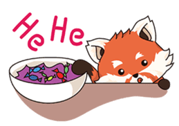 Little Tipsy the Red Panda sticker #897560
