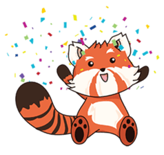 Little Tipsy the Red Panda sticker #897564