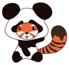Little Tipsy the Red Panda sticker #897566