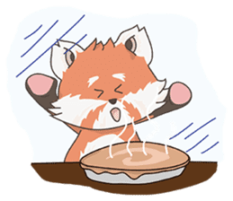 Little Tipsy the Red Panda sticker #897569