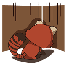 Little Tipsy the Red Panda sticker #897576
