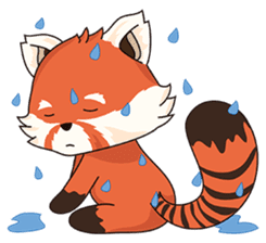 Little Tipsy the Red Panda sticker #897582