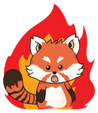 Little Tipsy the Red Panda sticker #897595