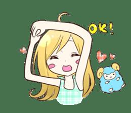 Life of cute girl sticker #899814