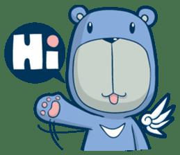 Blue Bear sticker #900160