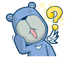 Blue Bear sticker #900167