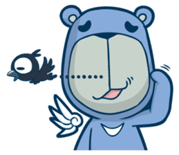 Blue Bear sticker #900179