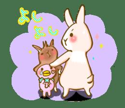 Rabbits Ami and foo sticker #900720