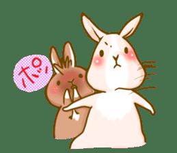 Rabbits Ami and foo sticker #900721