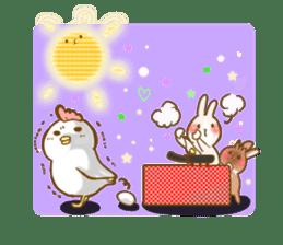 Rabbits Ami and foo sticker #900733