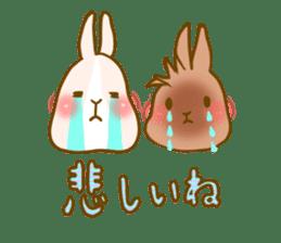 Rabbits Ami and foo sticker #900736