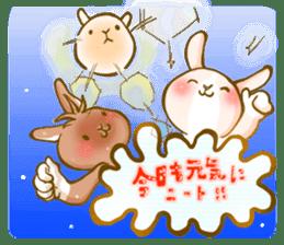 Rabbits Ami and foo sticker #900738